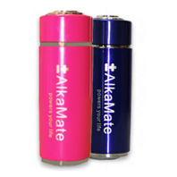 portable alkaline water bottle pink blue